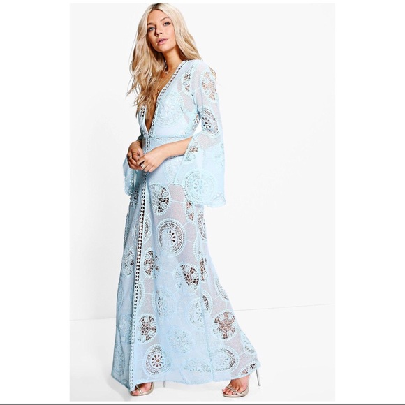 2e4258013f Boohoo Dresses | Blueboutique Premium Lace Trim Maxi Dress | Poshmark